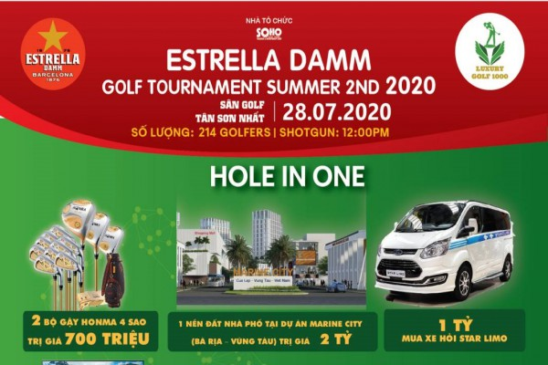 Chờ đón giải Estrella Damm Golf Tournament Summer 2nd